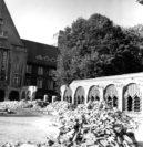 Der Abbruch der Arkaden begann am 12. September 1955. Bildvorlage: Stadtarchiv Delmenhorst
