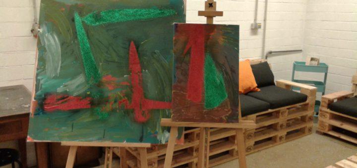 Diverse Malkurse sind auch in der zweiten Jahreshälfte im Programm beim Aller Atelier. Foto:pv