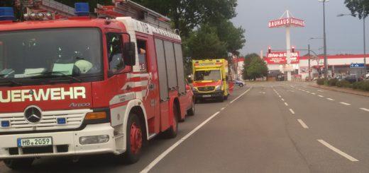 Am Mittwoch war der Weserpark evakuiert worden, Polizei und Feuerwehr waren im Großeinsatz. Foto: Bohlmann