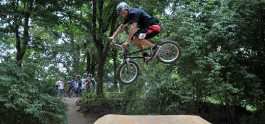 Der neue BMX-Parcours wurde von den Kindern und Jugendlichen beim Quartiers- und Familienfest stark belagert.Foto: Konczak