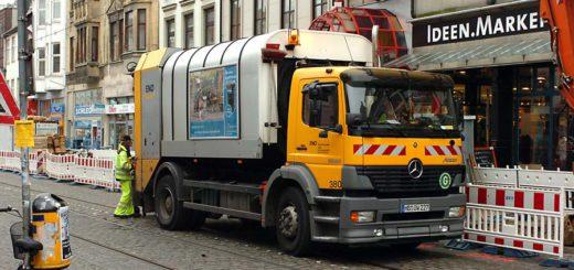 Müllabfuhr im Viertel. Foto: Schlie