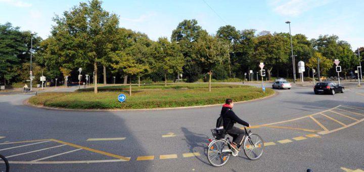Der Kreisverkehr Am Stern in Bremen, Foto: WR
