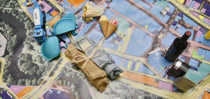 Blau ist Einzelhandel: Die neue Karte der City-Initiative. Foto: Barth