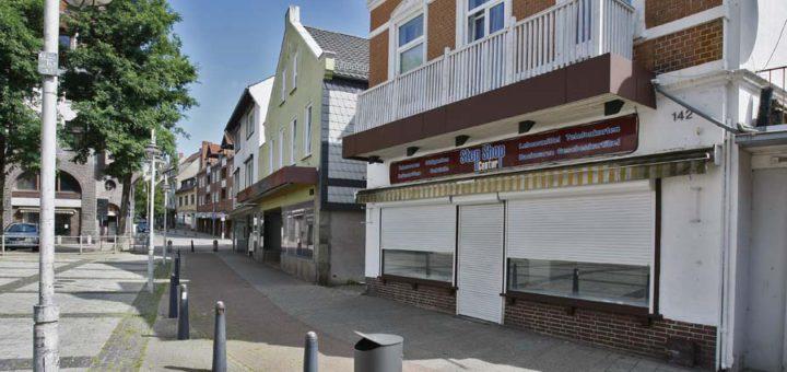Leere Geschäfte in der Mühlenstraße. Foto: Barth