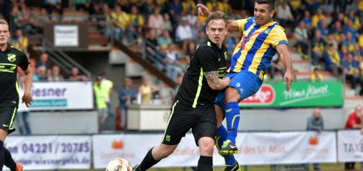 Iman Bi-Ria drehte mit zwei Toren in zwei Minuten die Partie für den SV Atlas. Foto: Konczak