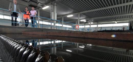 Die Überschuss-Schlammverdickung im Klärwerk Am Donneresch soll künftig effizienter über ein Siebband erfolgen. Foto: Konczak