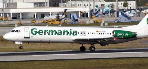 Ein solcher Airbus der Fluglinie Germania hatte Feuer gefangen und musste deswegen umkehren. Foto: wikipedia