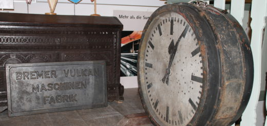 Die große Uhr ist ein Original aus der Großwerft. Foto: Füller