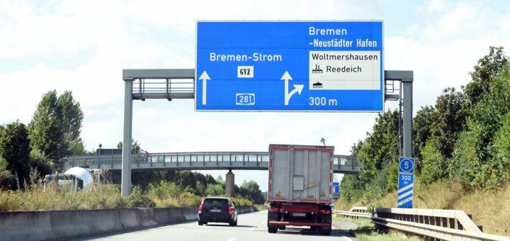 Insbesondere die A281-Abfahrt Neustädter Häfen sorgt in Woltmershausen angeblich für Lärmbelastung. Foto: Schlie