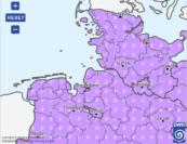 Die Hitzewarnkarte des DWD erfasst ganz Nordwestdeutschland