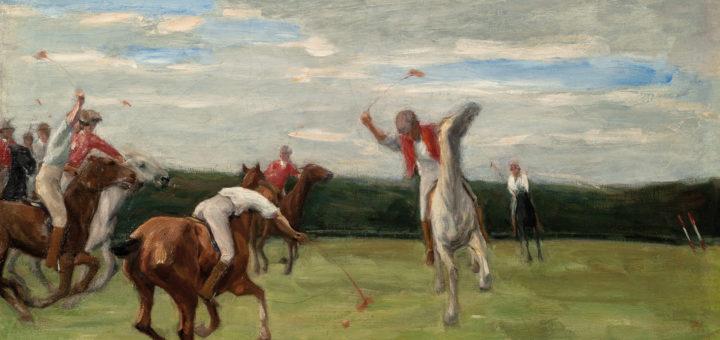"""Die """"Polospieler in Jenischs Park"""" malte Max Liebermann 1903. Zu sehen sind sie ab 22. Oktober in der Bremer Kunsthalle.Foto: Kunsthalle"""