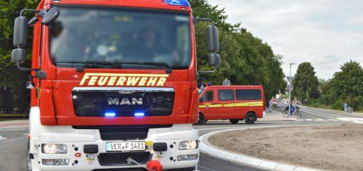 Zu einem Großeinsatz musste die Feuerwehr am Freitag in Verden ausrücken. Symbolbild: Sieler