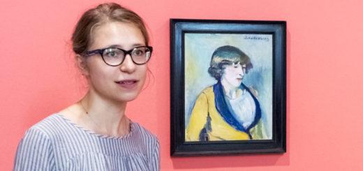 """Kuratorin Aneta Palenga hat sich auf die Spur von Hermine David begeben. Das Ergebnis ihrer """"Feldforschung"""" ist nun in der Städtischen Galerie zu sehen.Foto: Meyer"""