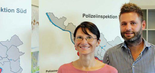 Die Kommissare Beate Bornemann aus Delmenhorst und Marco Niedergerke aus Bremen haben zwei Monate lang ihren Arbeitsplatz getauscht. Foto: Niemann
