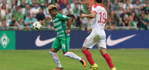 Werders Neuzugang Serge Gnabry (l.) konnte bei seinem Bundesliga-Debüt durchaus überzeugen. Foto: Nordphoto