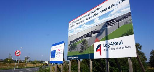 """Das Achimer Gewerbegebiet """"Uesener Feld"""" war im Juli 2015 komplett an das Unternehmen Log4Real gegangen, das dort ein modernes Logistikzentrum errichten wollte. Foto: Bruns"""