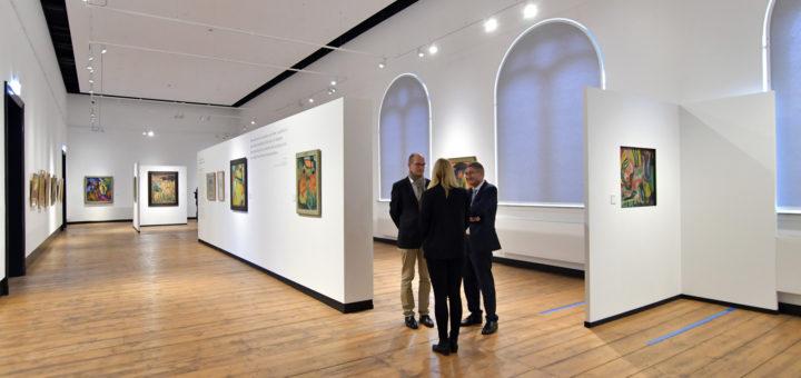 Die Sonderausstellung über die Brücke-Meisterwerke eröffnet auch die sanierten oberen Ausstellungsräume im Augusteum.Foto: Konczak