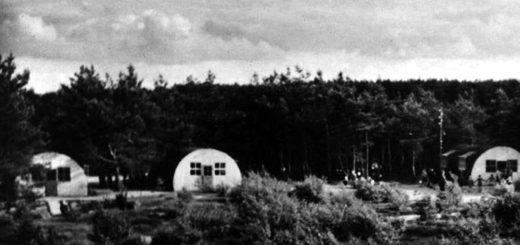 Diese Nissenhütten und die Küchenbaracke bildeten den Anfang des Schullandheims.Foto: Stadtarchiv Delmenhorst