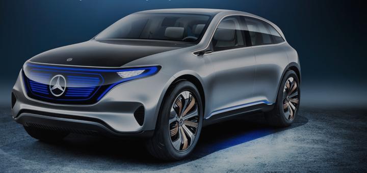 """Die monolithische Grundform des """"Generation EQ"""" verbindet SUV-Gene mit einem dynamischen Coupé-Charakter und Shooting-Brake-Anleihen am Heck. Foto: Mercedes"""