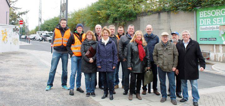 burchardGruppenfoto zum Abschluss der Sanierung der Burchardstraße. Foto: Bollmann