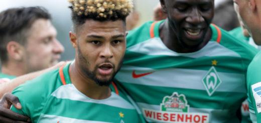 Serge Gnabry (l.) bereitete gegen Darmstadt ein Tor vor und erzielte einen Treffer. Foto: Nordphoto