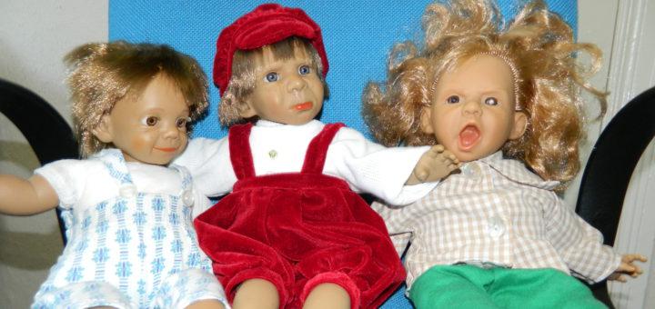 Mal frech, mal traurig: Die Puppen spielen in Christiane Kerners Büchern die Hauptrollen. Foto: Bosse