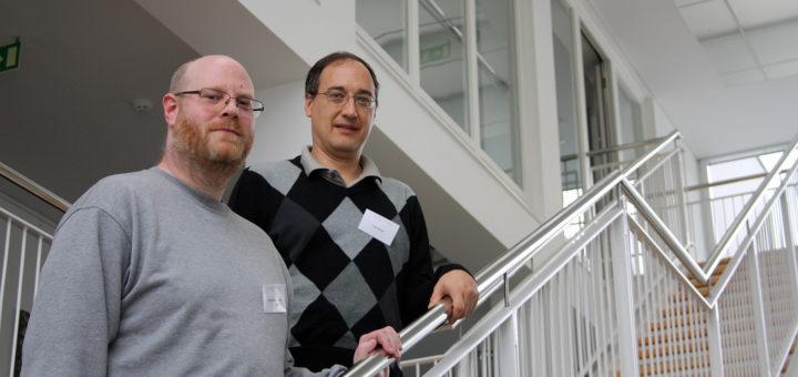 Dr. David Rotermund und Dr. Udo Ernst von der Uni Bremen haben den internationalen Workshop am HWK organisiert. Foto: nba