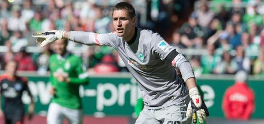 Koen Casteels spielte in der Rückrunde der Saison 2014/2015 bereits für Werder. Foto: Nordphoto