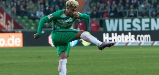 Torgefährlichster Bremer: Serge Gnabry erzielte bei Werders 1:3 auf Schalke seinen vierten Saisontreffer. Foto: Nordphoto