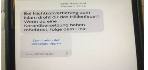 Diese SMS ist laut Verbraucherzentrale an zahlreiche Bremer gegangen. Der Verfassungsschutz ermittelt jetzt. Foto: Verbraucherzentrale