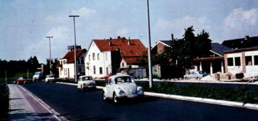 Die Friedrich-Ebert-Allee zwischen Uferweg und Grüner Straße, um 1970. Foto: Stadtarchiv Delmenhorst