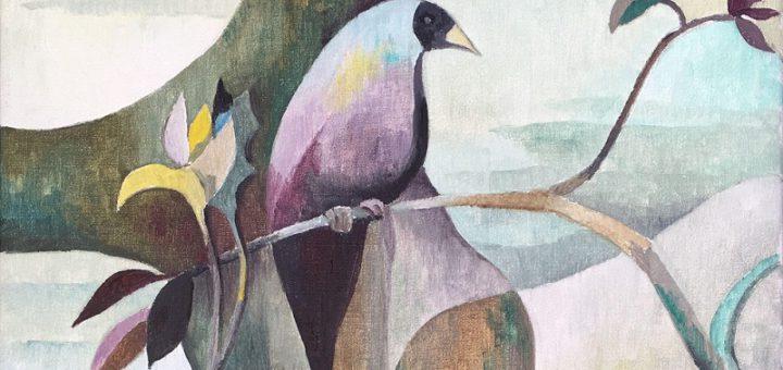 """""""Seltener Vogel"""" von 1987 (Öl auf Leinwand, 50 x 40 Zentimeter)Fotos: Archiv Werner Zöhl"""