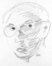 Selbstporträt von 1982, (Graphit auf Papier, 11 x 14 Zentimeter) Foto: Archiv Werner Zöhl