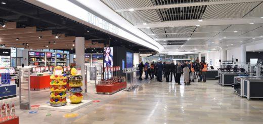 Hell und modern - der neue Abflugbereich mit Duty-Free-Shop und zwei neuen gastronomischen Angeboten am Flughafen Bremen. Foto: Schlie