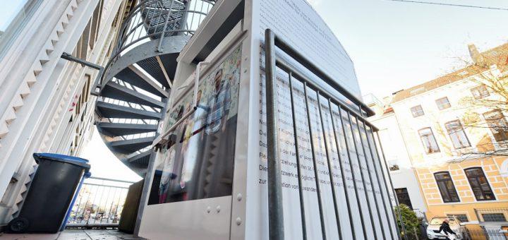 Der Kleider-Container am Sielwall Foto: Schlie