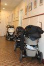 Einmal die Woche steht im Flur des MGH ein ganzer Fuhrpark von Kinderwägen.