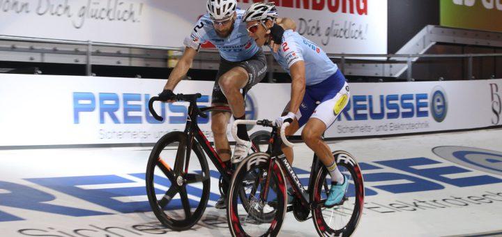 Kenny de Ketele (l.) und Christian Grasmann siegten beim Sechstagerennen Anfang des Jahres. Foto: Nordphoto