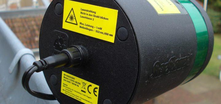 Mit diesem Laser auf dem Dach ist ein Lokführer in Mahndorf geblendet worden. Die Polizei warnt davor. Foto: Bundespolizei HB