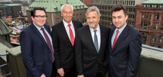 v. l. Florian Kommer, Thomas Meiswinkel, Rolf Specht und Tomislav Gmajnic (Geno) Foto: pv