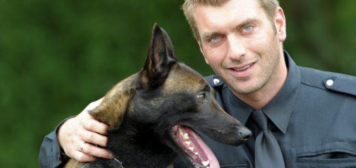 Rauschgiftspürhund Leif, hier mit seinem Hundeführer Marcus R., ließ sich nicht von dem mutmaßlichen Dealer austricksen. Foto: Polizei Bremen