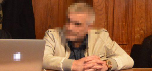 Der Angeklagte N. im Gerichtssaal. Foto: Sieler