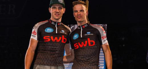 Marcel Kalz und Iljo Keisse waren das überragende Team beim 53. Bremer Sechstage-Rennen und holten sich den Gesamtsieg. Foto: Nordphoto