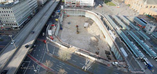 Rund um die Baustelle für das Citygate muss mit Behinderungen gerechnet werden. Foto: Barth
