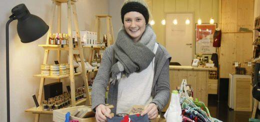 """Vanessa Just hat sich mit ihrer """"Nuhr-Manufaktur"""" im Citylab selbstständig gemacht und ist von der positiven Resonanz überrascht. Foto: Barth"""