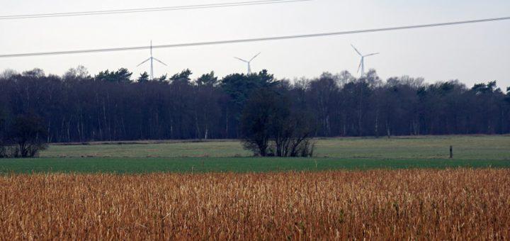 Noch sieht man Windräder vom Etelser Giersberg aus nur aus der Ferne. Doch schon ab Herbst sollen dort unter anderem die Flügel der ersten Bürgeranlage in der Region kreisen.Foto: Bruns