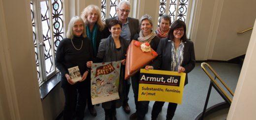 Die AkimA-Organisatorinnen um Schirmherr Oberbürgermeister Axel Jahnz haben das diesjährige Aktionsprogramm zum Thema Armut vorgestellt.Foto: nba