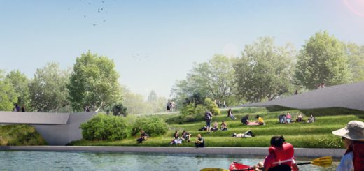 So soll es auf Höhe der Piepe künftig am Neustädter Flussrufer aussehen. Grafik: Topotek