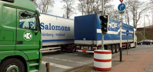 Anwohner beklagen, dass Lastwagen auf dem Weg zum Beispiel zum GVZ durch den Stadtteil fahren. Foto: av