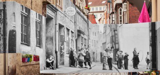 """""""Schnoor"""" heißt dieses Bild von Caspar Sessler. Die Archivbild-Ausschnitte stammen aus dem Jahr 1952. Foto: Sessler"""