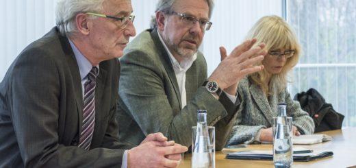 Axel Jahnz und Hans-Ulrich Salmen beim Pressegespräch